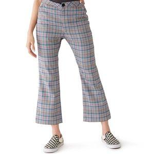 NWT Lazy Oaf Check Kick Flare Trousers